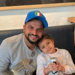 Suresh Raina with his daughter