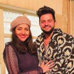 Suresh Raina with his girlfriend Priyanka Chaudhary