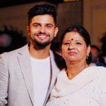 Suresh Raina with his mother Parvesh Raina