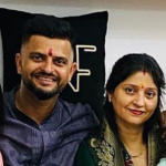 Suresh Raina with his sister Renu Raina