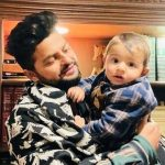 Suresh Raina with his son