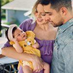 Wilmer Valderrama with his girlfriend Amamda and daughter Nakano Oceana Valderrama