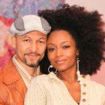 Yaya DaCosta with ex-husband Joshua Bee Alafia image