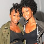 Yaya DaCosta with her sister Djassi DaCosta Johnson