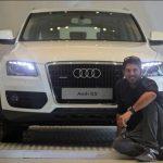 Yuvraj Singh with his Audi Q5 Car
