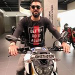 Yuvraj Singh with his BMW G310R Bike