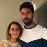 Yuvraj Singh with his girlfriend Hazel Keech