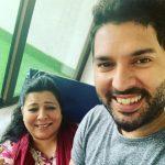 Yuvraj Singh with his mother Shabnam Singh