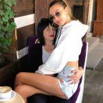 Alina Baikova with her mother Tatiana Vekhteva