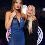 Alina Baikova with sister Mirosalva Voloshyna