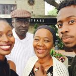 Anna Diop with parents and brother