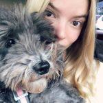 Anya Taylor-Joy with her pet dog