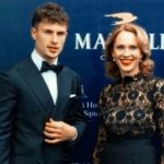 Arnas Fedaravicius with his mother