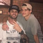 Curran Walters with his father Jason Walters
