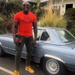 DeObia Oparei with his car