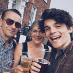 Edward Bluemel with his father and mother