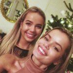 Frida Aasen with her sister Amalie Aasen