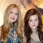 Georgie Henley with her sister Laura Henley