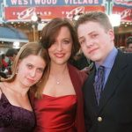 Gillian Anderson with her brother and sister