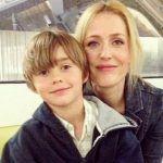 Gillian Anderson with her son Felix Griffiths