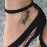 Gillian Anderson's right foot tattoo