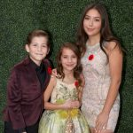 Jacob Tremblay with his sisters Emma and Erica