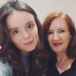 Lara Robinson with her mother