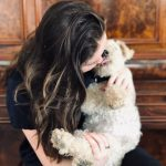 Lara Robinson with his pet dog