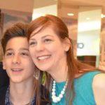 Lino Facioli with his mother Claudia Schmidek
