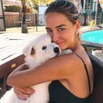 Madi Edwards with her pet dog