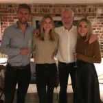 Megan Williams with father and siblings