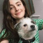 Millie Brady with her pet dog