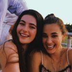 Millie Brady with her sister Caroline Brady