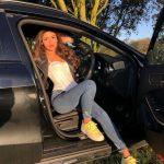 Mimi Keene with her car