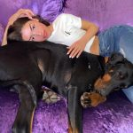 Mimi Keene with her pet dog
