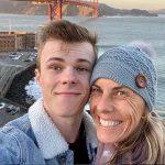 Nicholas Hamilton with his mother Linda Hamilton