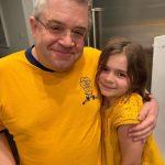 Patton Oswalt with hi daughter Alice Rigney Oswalt