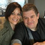 Patton Oswalt with his wife Meredeth Salenger