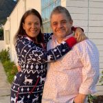 Patton Oswalt with his wife Meredeth Salenger image