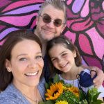 Patton Oswalt with his wife and daughter