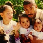 Raven Lyn with her father and sisters