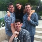 Sarah Stephens with her brothers