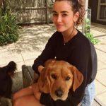 Sarah Stephens with her pet dog
