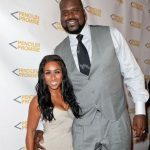 Shaquille O'Neal with ex-girlfriend Nicole Alexander