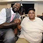 Shaquille O'Neal with his father Joseph Toney