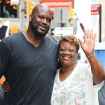 Shaquille O'Neal with his mother Lucille O'Neal