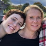 Sophia Lillis with her mother Juliana Mellevold