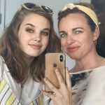 Teagan Croft with her mother Rebecca McNamee Croft