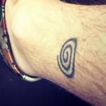 Toby Regbo's right leg tattoo