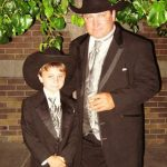 Gattlin Griffith with his father Tad Griffith